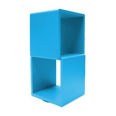 Prissilia Cube 2 Space Cyan Rak Pajangan