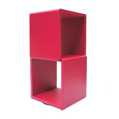 Prissilia Cube 2 Space Fuschia Rak Pajangan