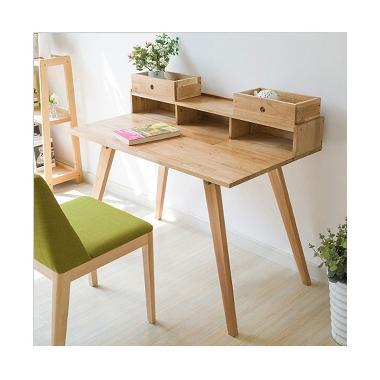 Prissilia Minimalis Tentacool Pine Desk Meja
