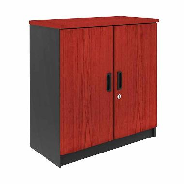 Prissilia Necro Office Cabinet with Door Mahogany Rak Minimalis