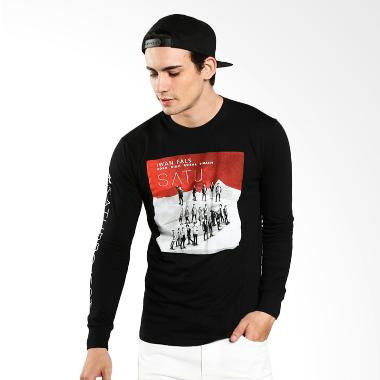 Satuproject Kaos Lengan Panjang XL Hitam Merchandise
