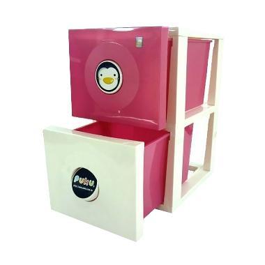 Puku Duo Container Rak Bayi - Pink