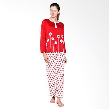 Puppy 81603 33460 R Donna Sleep Wear Baju Tidur - Deep Red/Off White