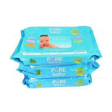 Jual Pure Baby Hand Amp Mouth Baby Wipes 60S PROMO