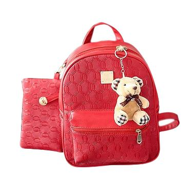 Purnama Tas Ransel Import 2 in 1 + Doll/ Tas Import/ Bagset