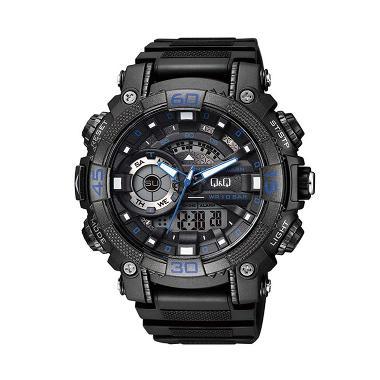 Q&Q Chrono Alarm GW87J003Y Jam Tangan Pria - Black