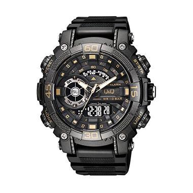 Q&Q Chrono Alarm GW87J004Y Jam Tangan Pria - Black