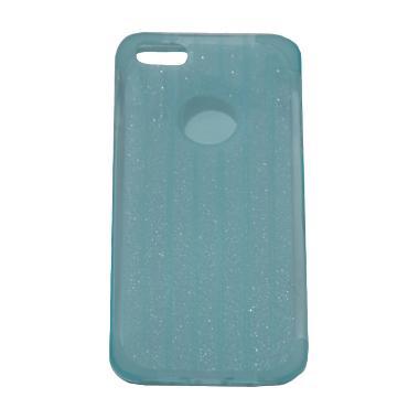 QCF Gliter Softcase Casing for iPhone 5 - Biru