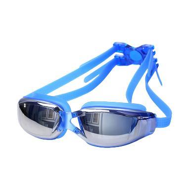 QCF Swimming Goggles Mirror Anti Fo ... on Kacamata Renang - Biru