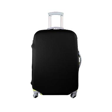 QCF Luggage Cover Pelindung Koper - Hitam [Size L/28-30 inch]