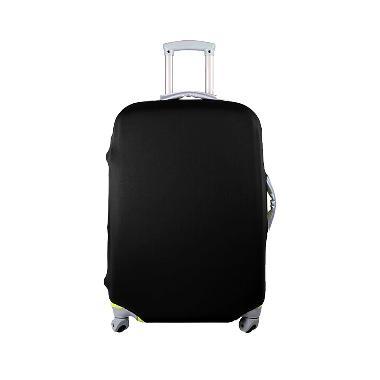 QCF Luggage Cover Pelindung Koper - Hitam [Size M/22-26 inch]
