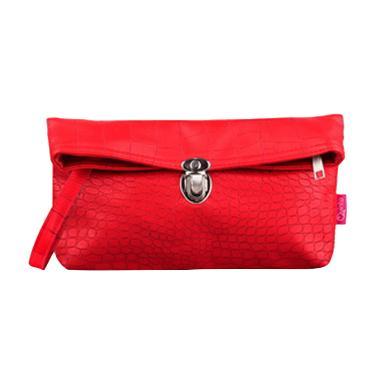 Quinta Croco Clutch Dompet Wanita - Red