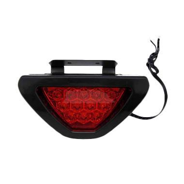 Brake Lamp F1 Cahaya Merah Segitiga Kaca Lampu Mobil - Merah