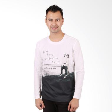 RA Jeans Fans Tee LS FT LS 10 09 Putih Kaos Pria