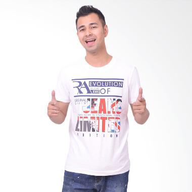 RA Jeans Mens Limited Edition MTK M002A Putih Kaos Pria