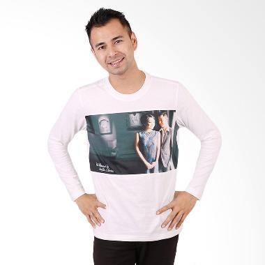 RA Jeans Mens Fans Tee LS FT LS 10 15A Putih Kaos Pria