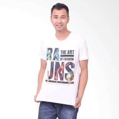 RA Jeans Mens The Art of Fashion MTK M001A Putih Kaos Pria