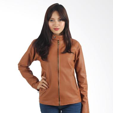 Raindoz Women RDI 047 Leather Jacket - Light Brown