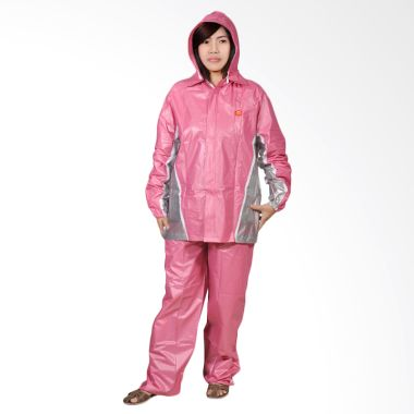 Rainwear Fixie Pink Set Jas Hujan   ...