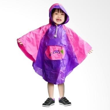 Rainwear Poncho Anak Ungu Jas Hujan