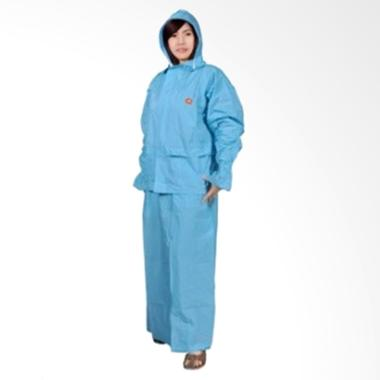 Rainwear Rok She Biru Set Jas Hujan