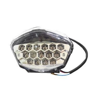 Raja Motor LAS4021 Lampu Stop LED f ... ja 250 Carburator - Merah