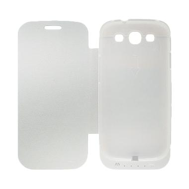Rapid DF-202 Battery Case for Samsung S3 - Putih [Dengan Penutup]