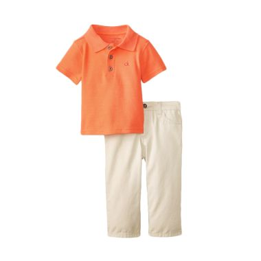 Calvin Klein Baby Boys' Orange Polo ...