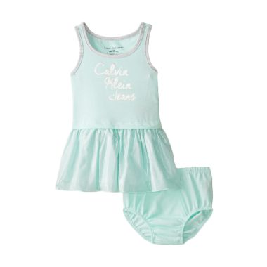 Calvin Klein Baby Girls' Blue Dress ...