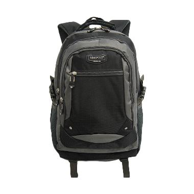 Real Polo Tas Pria/Tas Wanita Ranse ... 12 Black (Free Bag Cover)