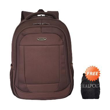 Jual Real Polo Waterproof 8315 Tas Ransel Coffee Free