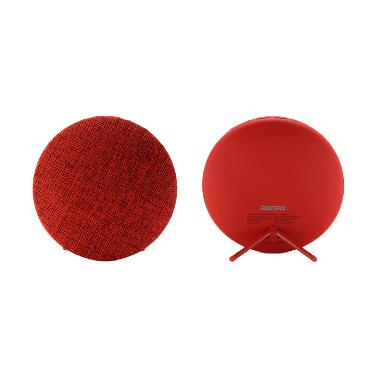 harga Remax Original RB-M9 Hi-Fi Stereo Wireless Bluetooth Speaker - Merah [7 W/Canvas Fabric] Blibli.com