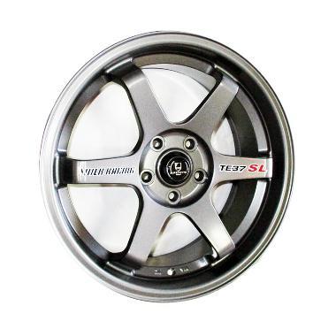 Replika Volkrays Te37 Sl Gunmetal Velg Mobil 15 Inch