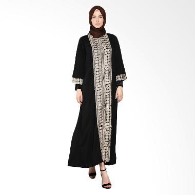 Rhku By Sopia Jubah Renda Dress Muslim - Hitam