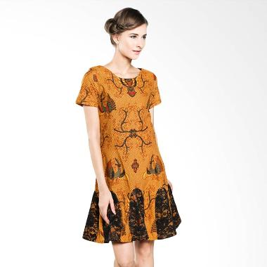 Rianty Batik Esther 003304024 Brown Dress Batik
