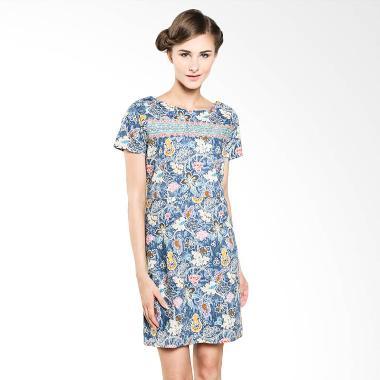 Rianty Batik Ketherin 003304011 Blue Dress Batik