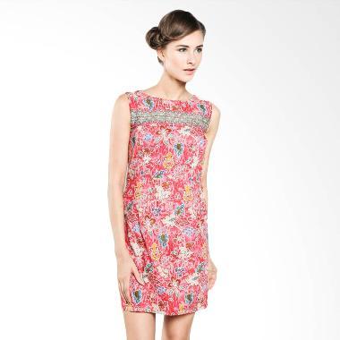 Rianty Batik Women Dress Maylea 003304018 Pink Dress Batik