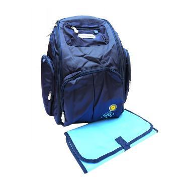 Right Starts Diaper Backpack Biru Polos Tas Anak