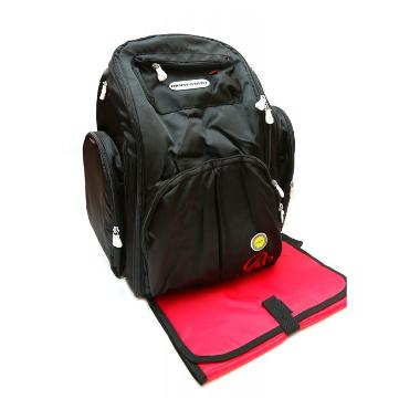 Right Starts Diaper Backpack Hitam Polos Tas Anak