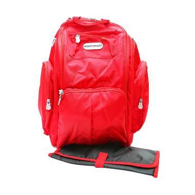 Right Starts Diaper Backpack Merah Polos Tas Anak