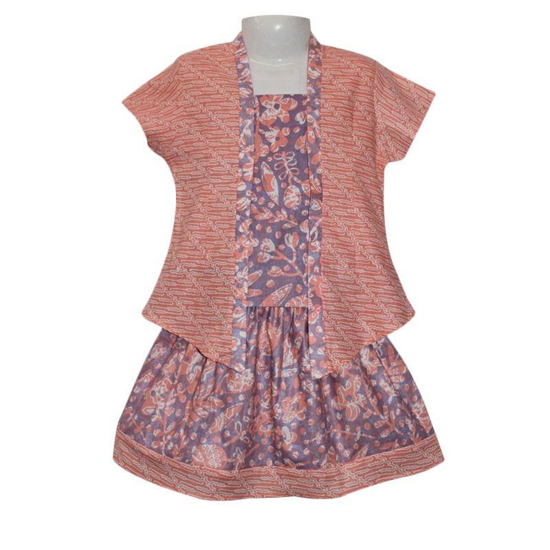 Baju Batik Anak Perempuan: Jual Rumah Voila Kebaya Batik Pastel Orange Ungu Setelan