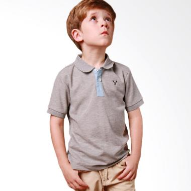 S Square Kids Plaid Collar Polo Atasan Anak