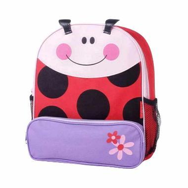 Safari Animal Backpack Anak - Ladybug Red