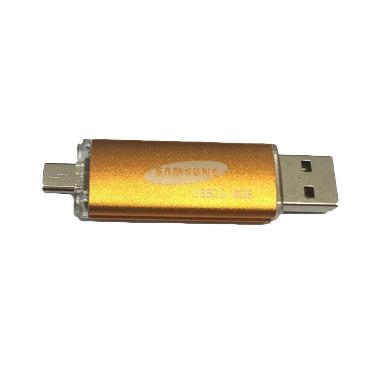 Samsung 2in1 Flashdisk - Kuning [16 GB/USB/Micro USB]
