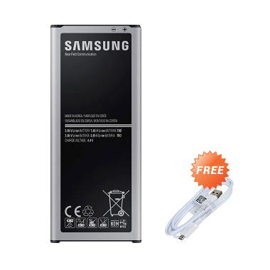 Samsung Battery for Samsung Galaxy Note 4 SM-N910H [3220 mAh] + Free Samsung Micro USB 2.0