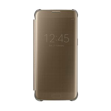 Samsung Clear S-View Flip Cover Cas ... for Galaxy S7 Edge - Gold