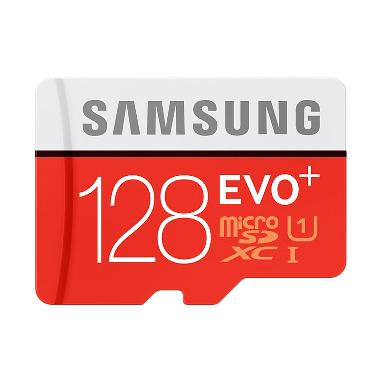 Samsung EVO Plus microSD Card with Adapter - Merah [128GB/80 Mbps]