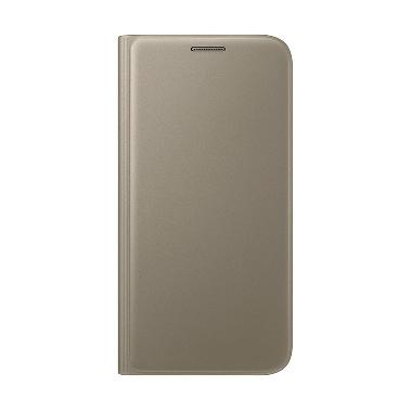 Samsung Flip Wallet Casing for Galaxy S7 - Gold