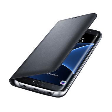 Samsung Flip Wallet Casing for Galaxy S7 Edge - Black