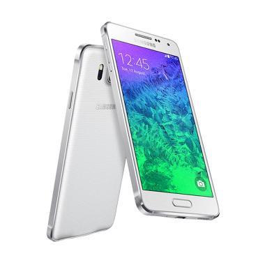 Samsung Galaxy Alpha Smartphone - White [32GB/ 2GB]